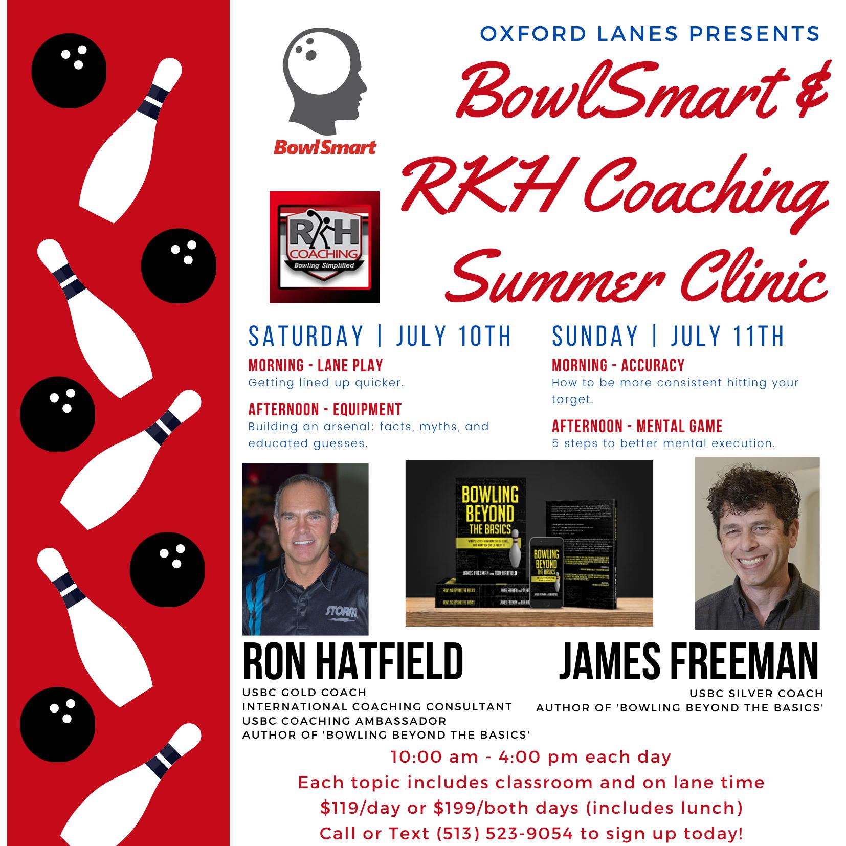 BowlSmart & RKH Coaching Summer Clinic